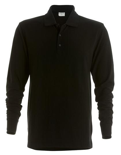 K430 Kustom Kit Piqué Polo Shirt Long Sleeved